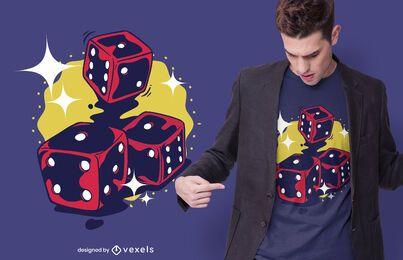 Diseño de camiseta de tres dados