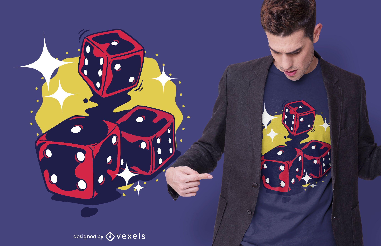 Three dices t-shirt design