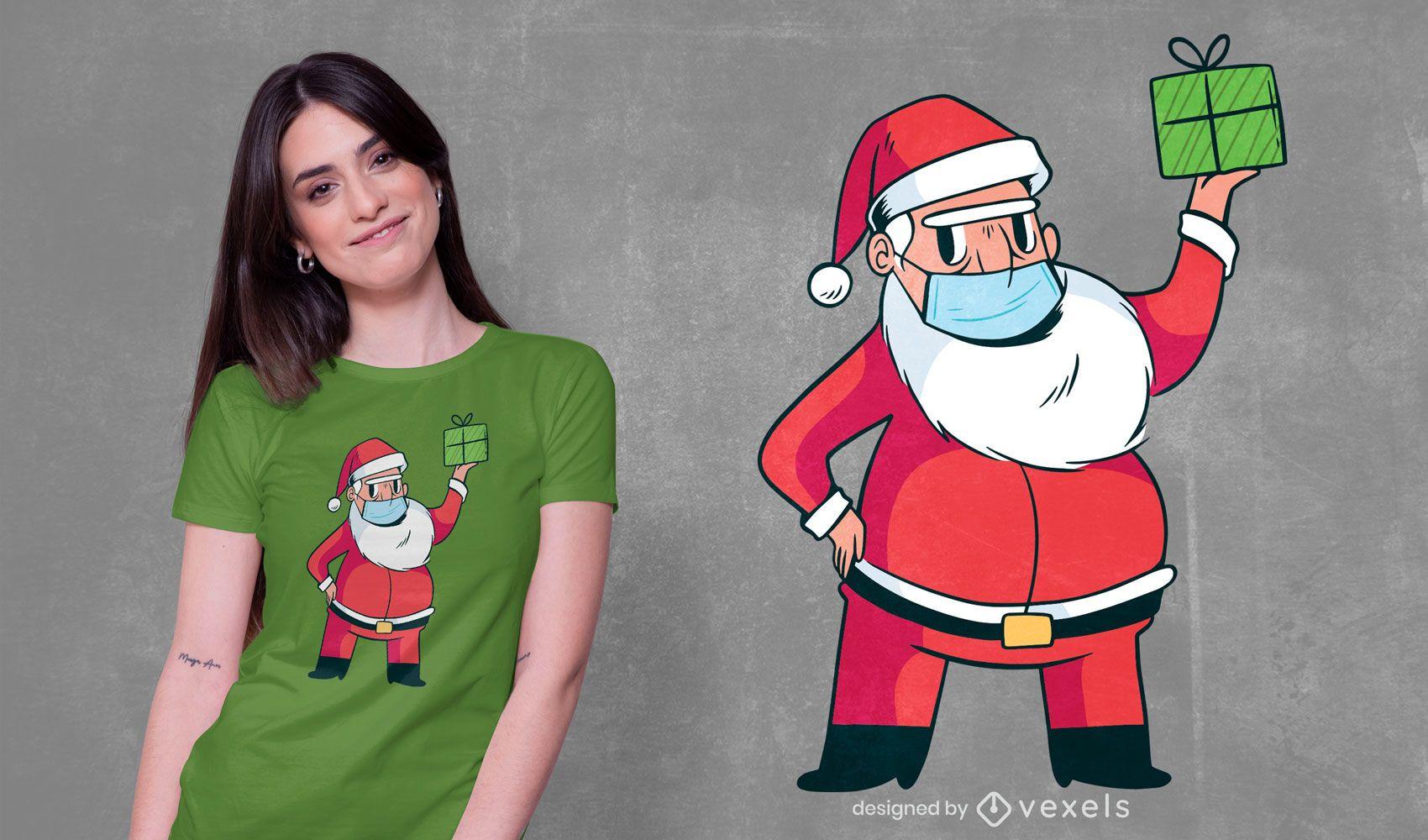 Santa claus face mask t-shirt design