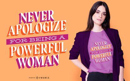 Design de camiseta poderosa mulher