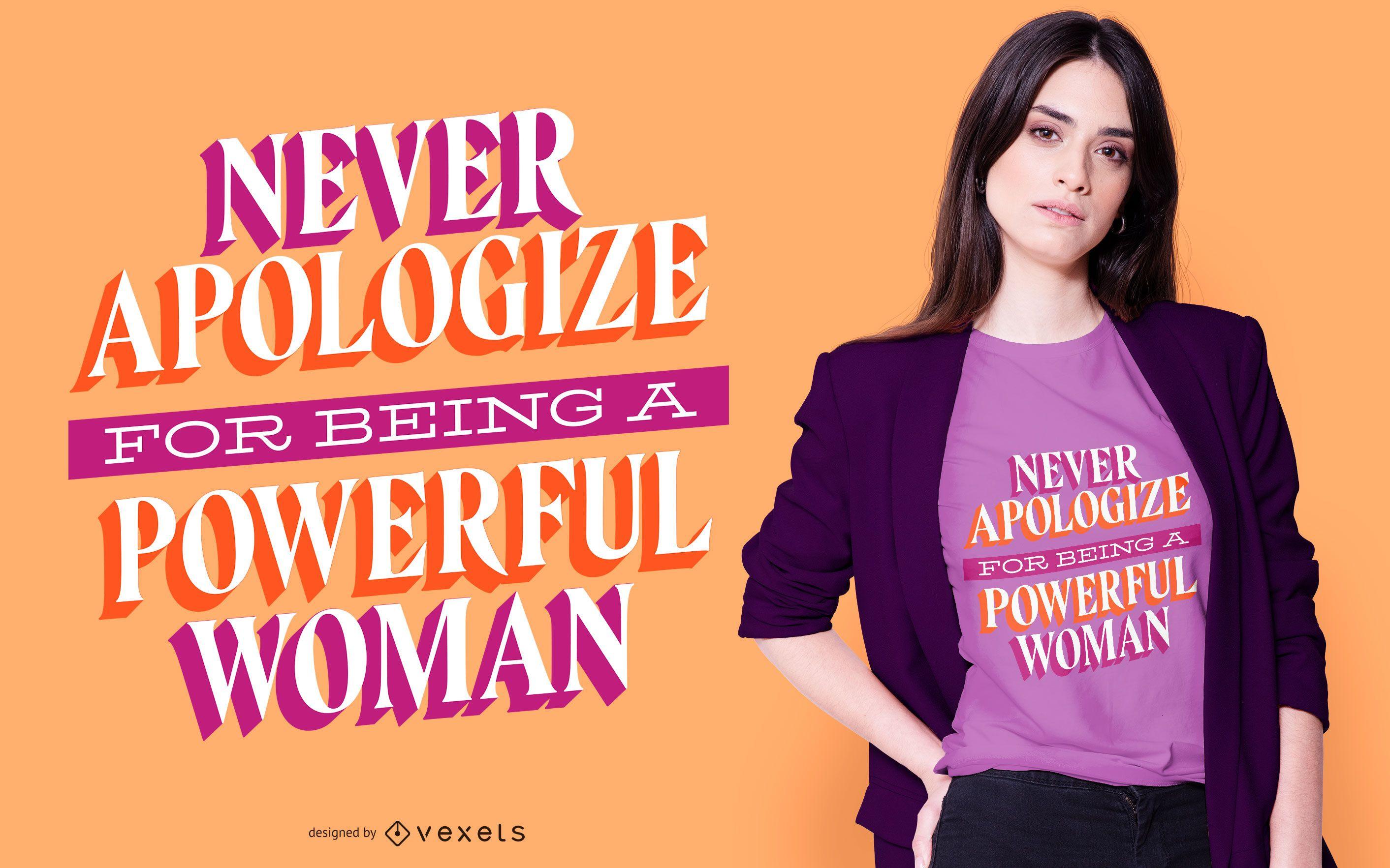 Powerful woman t-shirt design