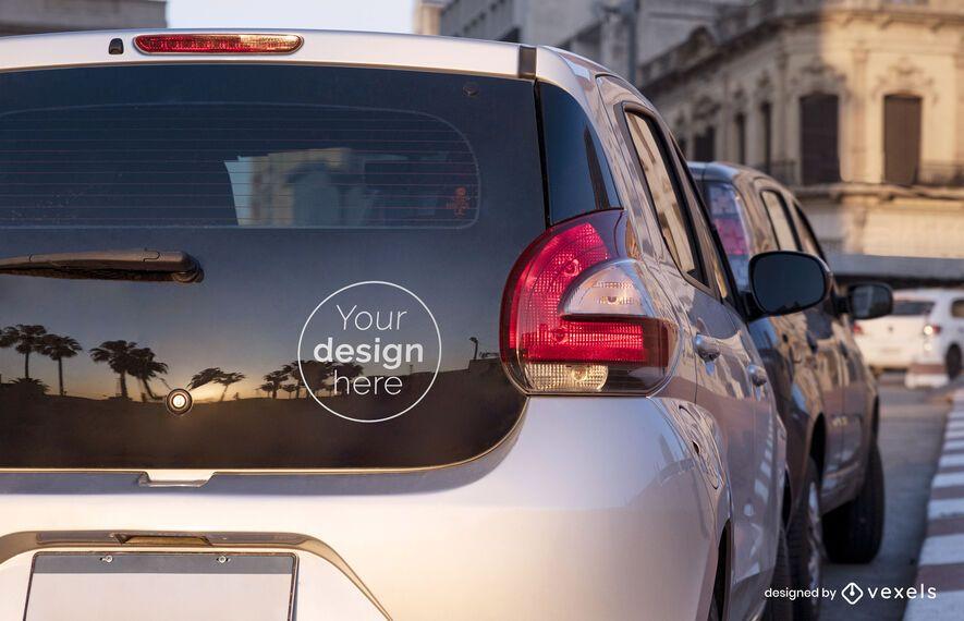 Car sticker mockup design