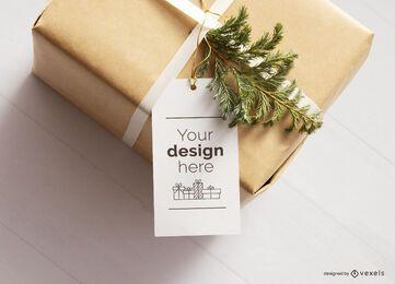 Maquete de marca de presente de Natal