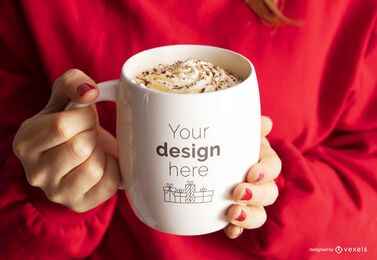 Christmas mug mockup composition
