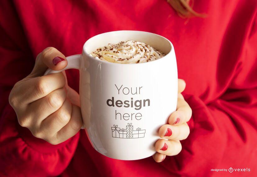 Christmas mug mockup composition
