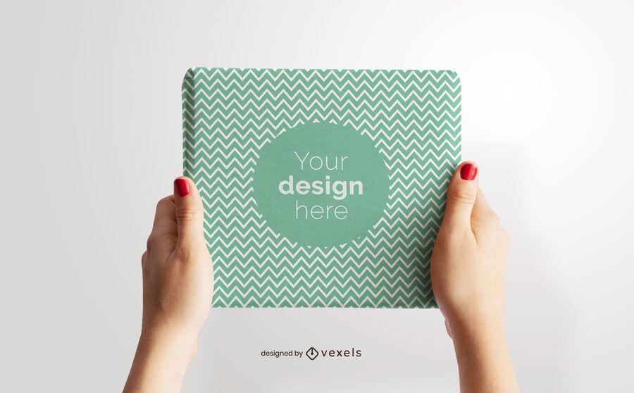 Design de maquete de embrulho de presente
