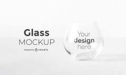 Diseño de maqueta de copa de vidrio