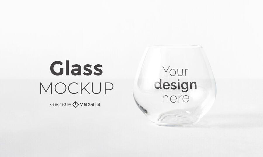 Design de maquete de copo de vidro