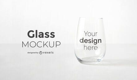 Design de maquete de copo de vinho sem haste