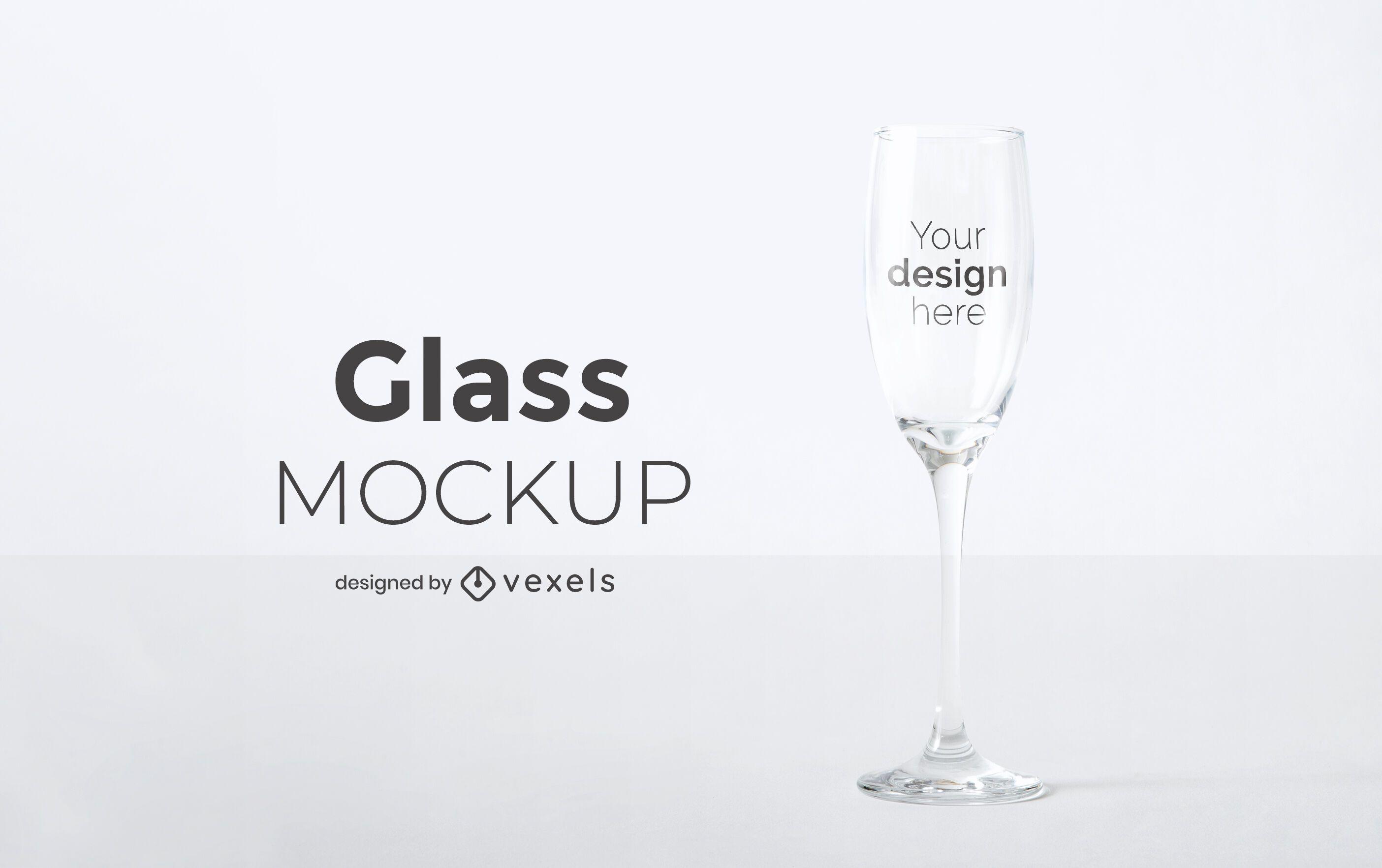 Champagne glass mockup design