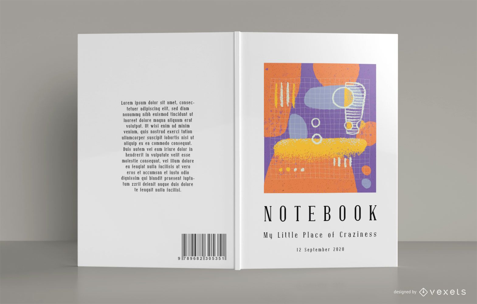 Diseño de portada de cuaderno abstracto