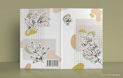 Design de capa de livro botânico