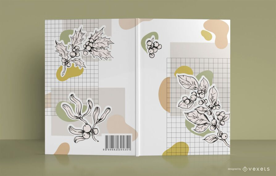 Diseño de portada de libro botánico