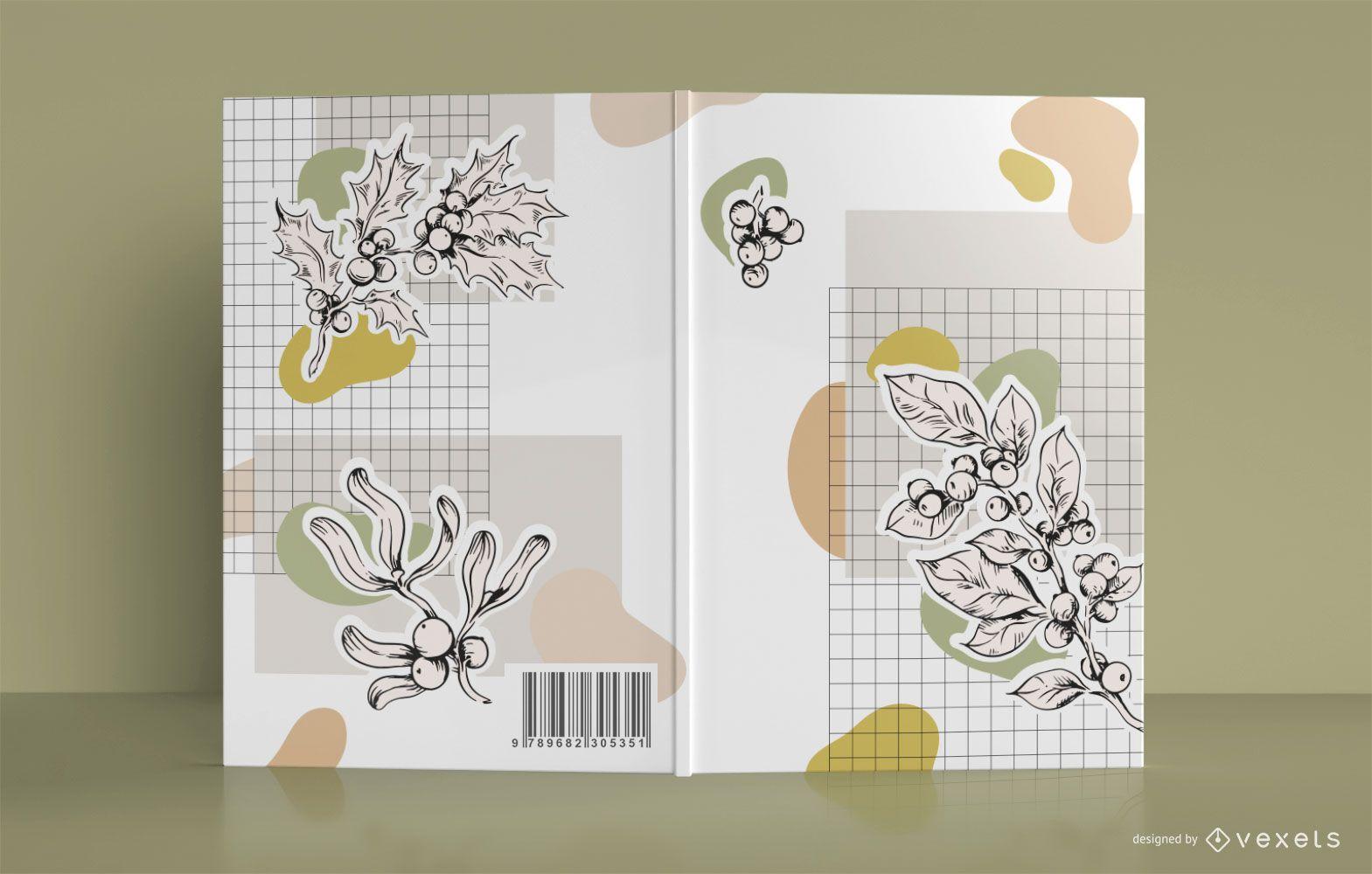 Botanical book cover design