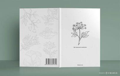 Meu design de capa de caderno botânico