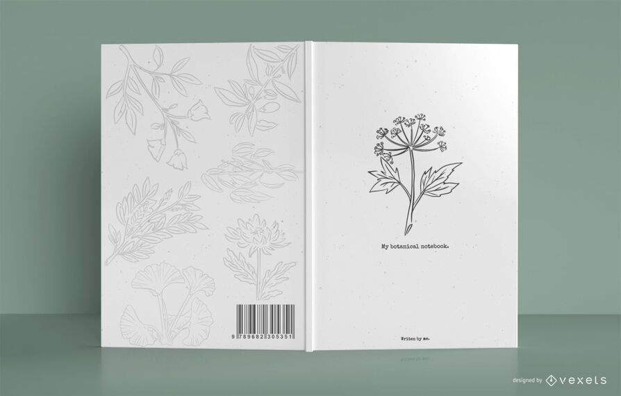 My botanical notebook cover design