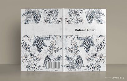 Buchdeckelentwurf des botanischen Liebhabers