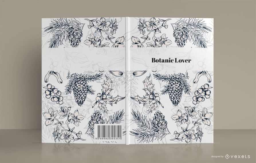 Botanic lover book cover design
