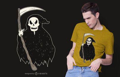 Diseño de camiseta de muerte Grim Reaper