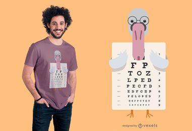 Design de t-shirt de gráfico de olho de cisne