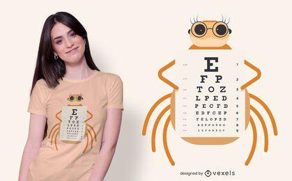 Diseño de camiseta con gráfico de araña