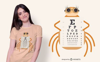Spider eye chart t-shirt design