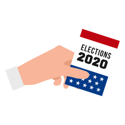 Design de mão para eleições eua 2020