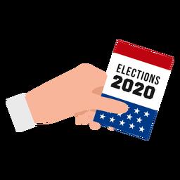 Diseño de la mano de las elecciones de estados unidos 2020