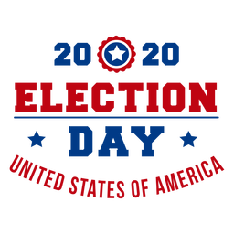 2020 election day usa lettering