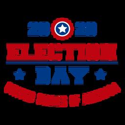 Letras dos EUA no dia das eleições de 2020