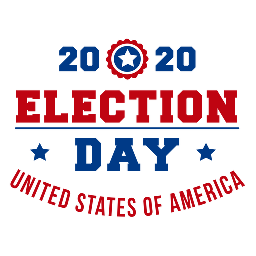 2020 election day usa lettering Transparent PNG