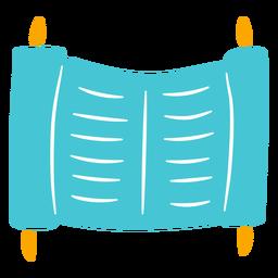 Doodle judeu de pergaminho antigo