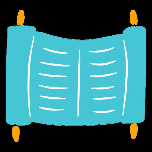Ancient scroll jewish doodle Transparent PNG