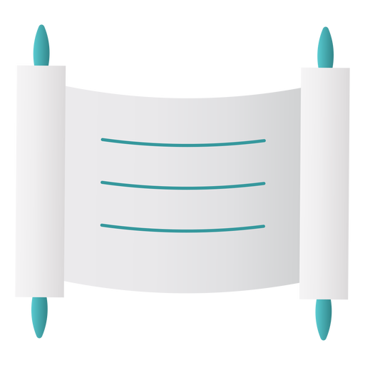 Ancient scroll jewish flat Transparent PNG