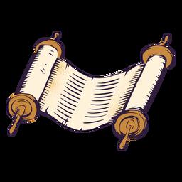 Ilustración judía de pergamino antiguo