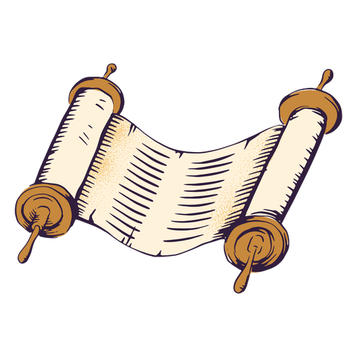 Ancient scroll jewish illustration Transparent PNG
