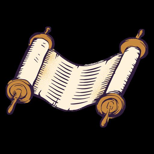 Ancient scroll jewish illustration