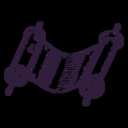 Trazo judío de pergamino antiguo