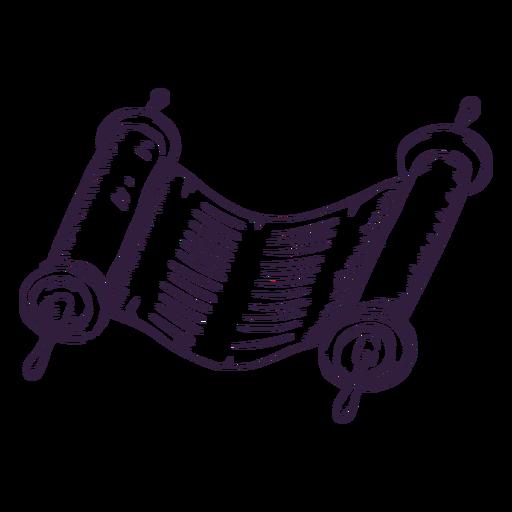 Trazo judío de pergamino antiguo Transparent PNG