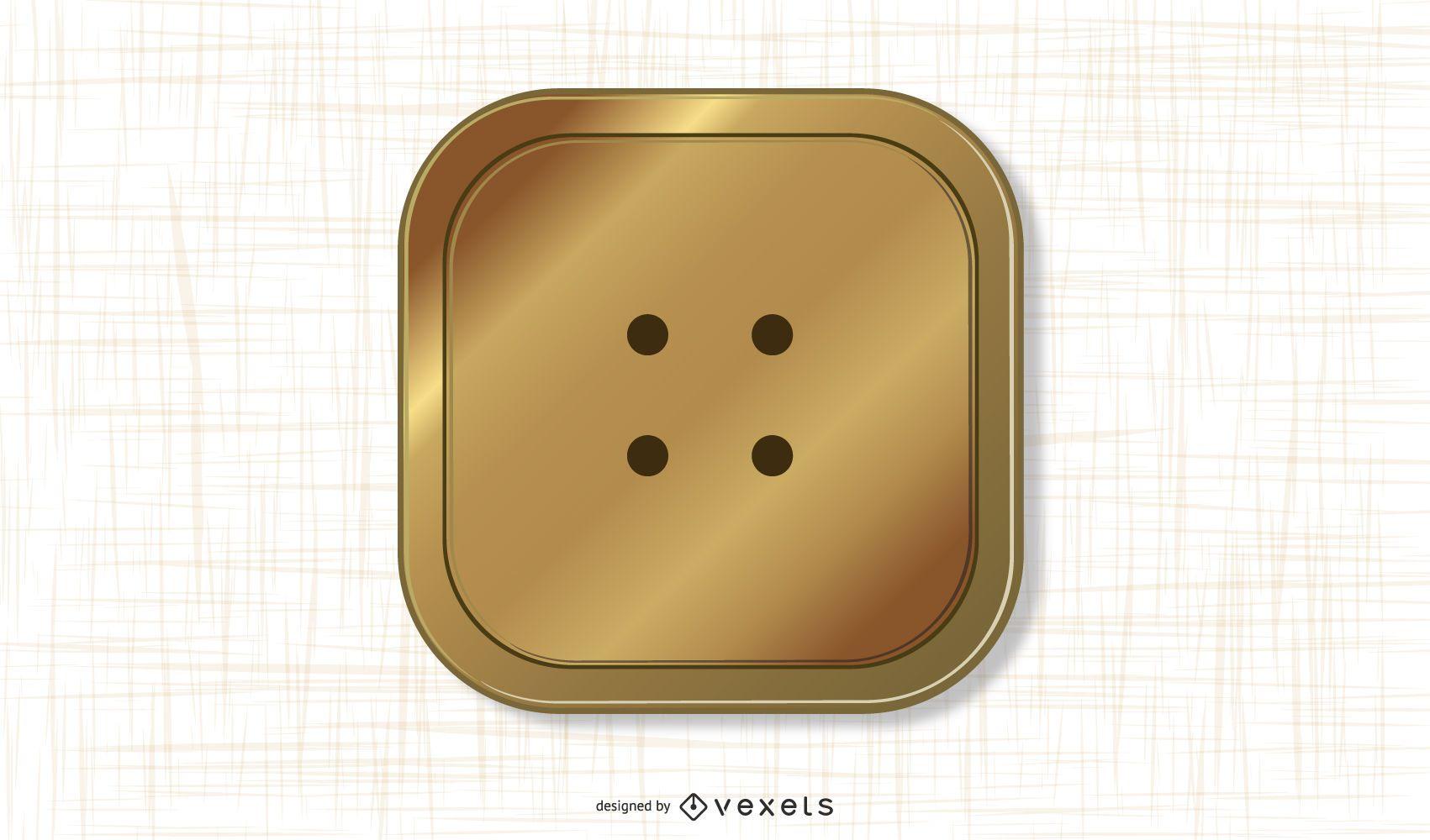 Botón dorado vector gratuito
