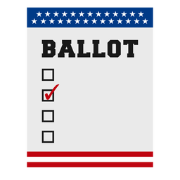 Elemento de eleições de cédula eua