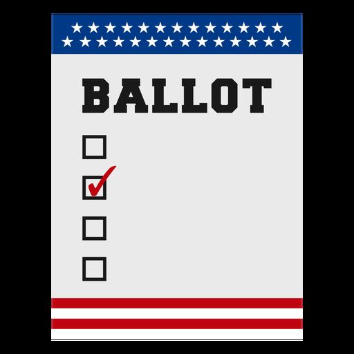 Elemento de las elecciones de Estados Unidos de la boleta