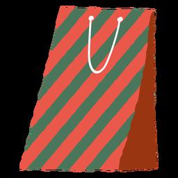 Bicolor present bag envelope illustration