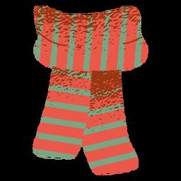 Ilustración de ropa de bufanda bicolor