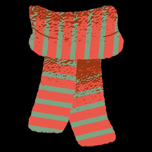 Bicolor scarf clothing illustration