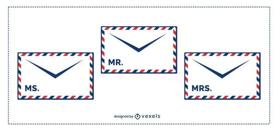 Postal Envelope Template Pack