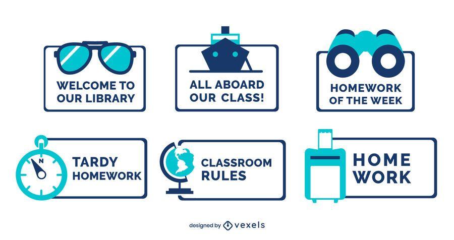 Classroom decorative travel label set