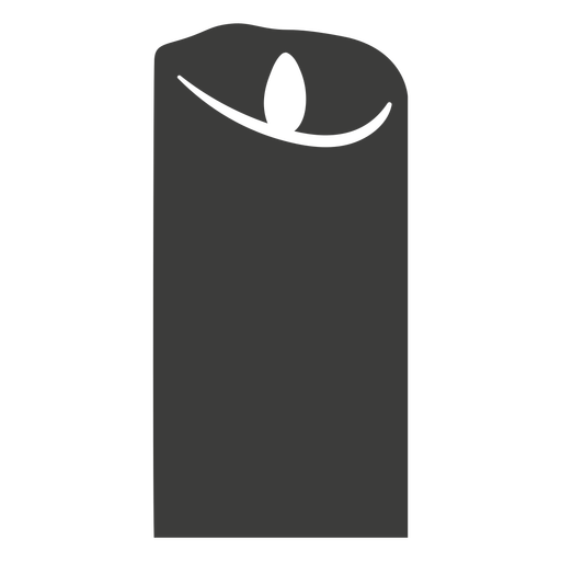 Burned wide pillar candle silhouette Transparent PNG