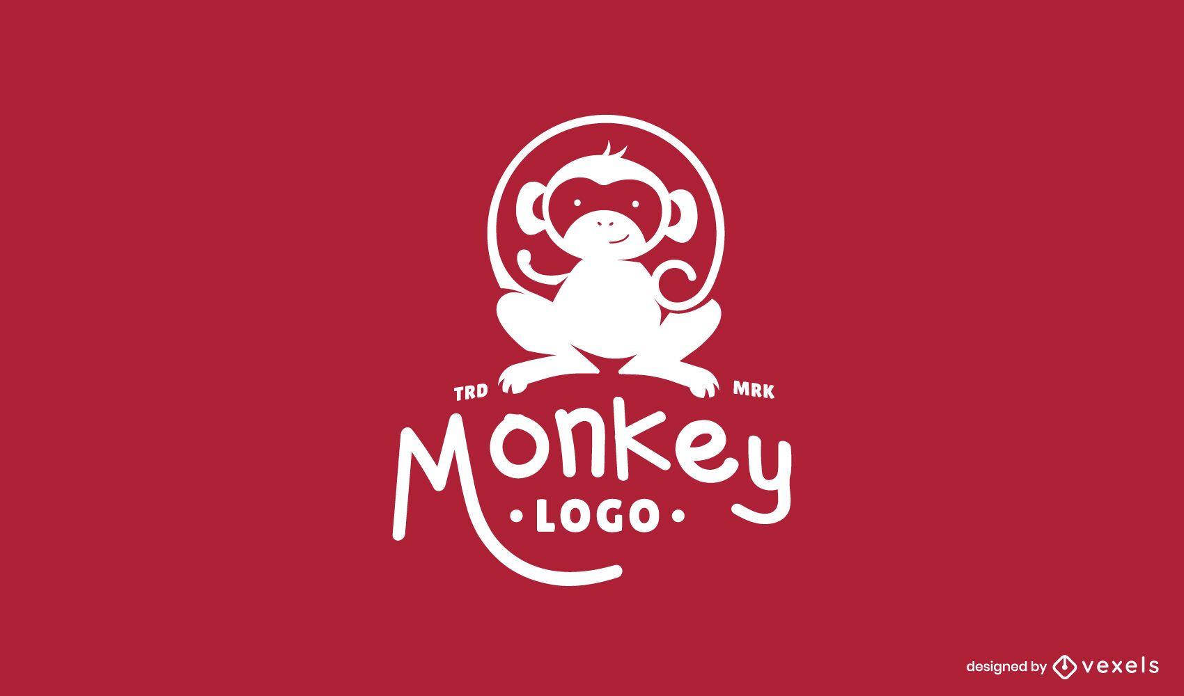 Design do logotipo do macaco