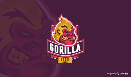 Gorilla monkey logo design